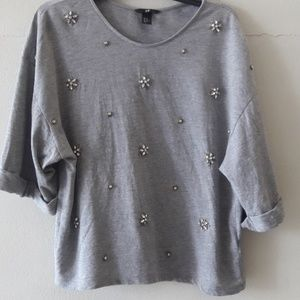 H&M women's top with embellishment